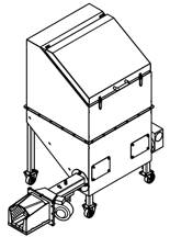 06652827 Automatyczny podajnik do spalania biomasy 0,6m3 230V 30kW, głowica: żeliwna (paliwo: trociny, wióry, zrębki, kora, brykiet, agrobrykiet, pellet, pestki owoców)