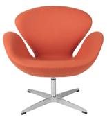 99851032 Fotel Cup inspirowany projektem Swan kaszmir (kolor: pomarańczowy)