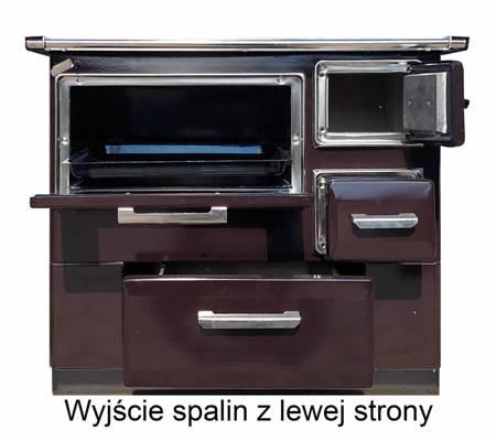 DOSTAWA GRATIS! 50066965 Kuchnia węglowa, angielka z piekarnikiem 9,5-16kW na drewno i węgiel, bez płaszcza wodnego (kolor: brązowy)