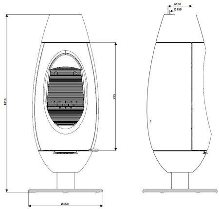 DOSTAWA GRATIS! 86829176 Piec wolnostojący Invicta 10kW Ove - spełnia anty-smogowy EkoProjekt