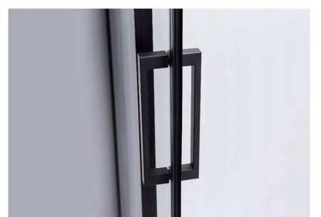 HYDAR Kabina Prysznicowa Czarna 100x80 SZKŁO 8MM 23178201