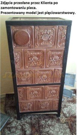 Piec grzewczy kaflowy 9,5kW Retro czterowarstwowy na drewno (wysokość: 100cm, wylot: 125mm) 92238182