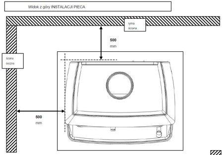 Piec wolnostojący Invicta 6kW Norik (górna, tył wylot spalin: 150mm, kolor: antracyt) - spełnia anty-smogowy EkoProjekt 86854931